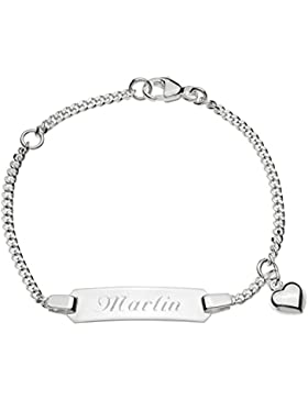 Schmuck-Pur Echt Silber Kinderarmband Mädchen-ID-Armband