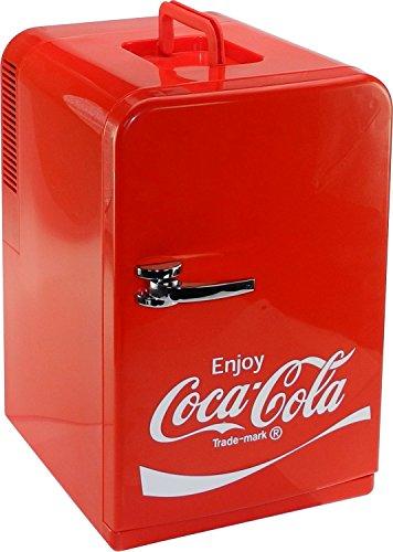 Coca-Cola 10525450 Mini Kühlschrank F15 12/230V – 15 Liter mit Kühl-und Warmhaltefunktion, Energieeffizienzklasse A++, Rot, 14L