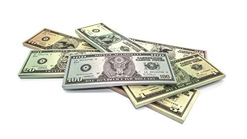 Cashbricks 7 x 50 Spielgeld Dollar Scheine (1$-100$) Set (original Dollar Size)