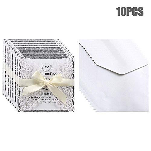 ladungskarten, Laser Cut Hochzeit Baby Shower Invitation Hollow Favors Einladung Cardstock für Verlobung ()