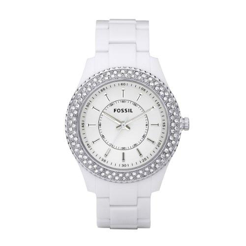 Fossil Damen-Armbanduhr Stella Ladies Dress Analog Quarz Plastik ES2444