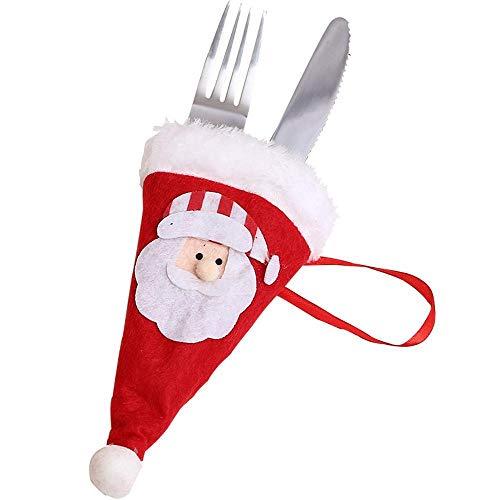 (SPFAZJ Weihnachten Dekoration Weihnachten Tischdekoration Hotelrestaurant schmücken alte Mann Schneemann Besteck Tasche kreative Besteck Se T-Weihnachtsschmuck)