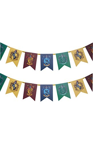 tter Hogwarts Wand Banner Flagge Fancy Kleid Zubehör Dekoration Wimpelkette (Flagge Kleid)