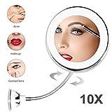 Kenyaw Cosmeticaspiegel met ledverlichting, rond, maximaal comfort bij gezichtsverzorging en scheren