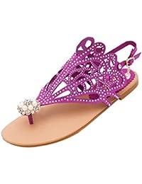 9dc92aa890bd9 Amazon.co.uk  Purple - Flip Flops   Thongs   Women s Shoes  Shoes   Bags