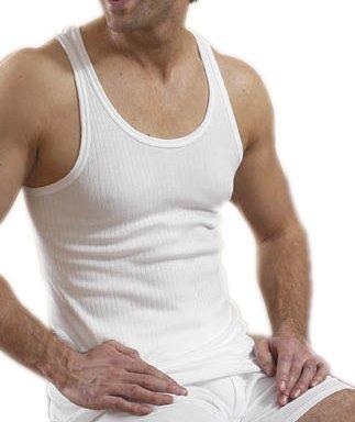 John Ärmellos (2Herren Ärmellos 100% Baumwolle verschiedene Größen Weiß weiß S: Chest 32