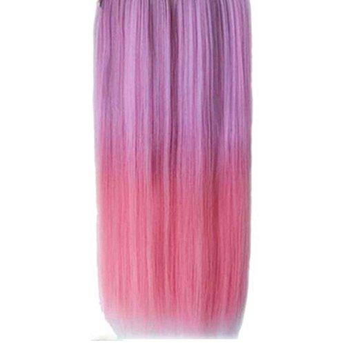 Xuanhemen Hoher heller Haarteil-gerader Klipp in der Haar-Verlängerungs-Perücke (Halloween Kostüme Herkunft)