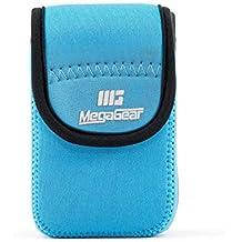 MegaGear mg1278Ultra luz Funda de Neopreno con mosquetón para Nikon Coolpix W300/AW130/Ricoh WG-30W/WG-50–Cámara–Azul