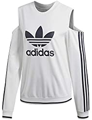 adidas Cut-out Sweater - Sudadera, Mujer, Blanco(Blanco)