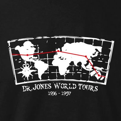 TEXLAB - Dr. Jones World Tours - Langarm T-Shirt Dunkelblau