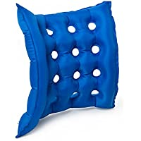 GFYWZ Luft-Aufblasbares Sitz-Kissen 17 X 17-Zoll-Hitze Versiegelte Konstruktion Für Haltbarkeits-Kissen Für Rollstuhl und Tag Zu Tagesgebrauch Ideal Für Verlängertes Sitzendes Blau