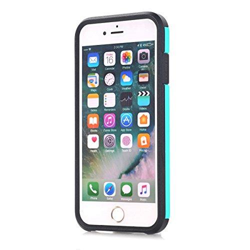 "MOONCASE iPhone 7 Coque, 2 in 1 Hybrid Durable Armure Defender Housse Slim Fit Anti-rayures Anti-choc Protection Étuis Case pour iPhone 7 4.7"" Vert Vert"