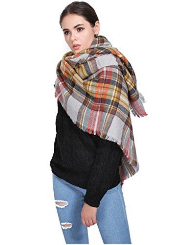 Soft pashmina tartan scarf