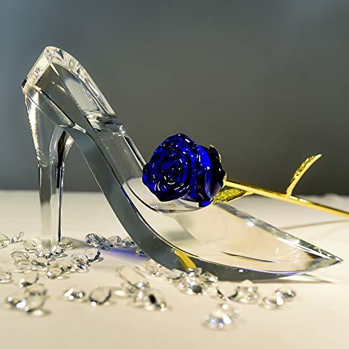 Durchsichtige Crystal Heels Figur Ornament,cinderella Party Glas Schuh Aufhänger Schreibtisch Home Dekoration -klar 17x12cm(7x5inch)