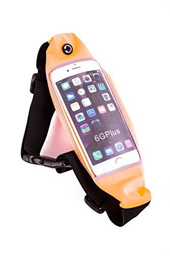 BERTRONIC ® Sport - Bauchtasche - Orange - für Smartphone, Handy, MP4/MP3 Player, iPhone/iPod, Samsung, LG - passend bis 5,7