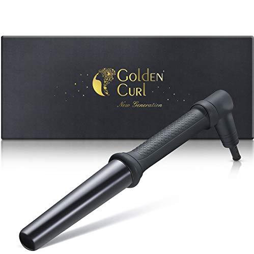 Golden Curl Bambino Professioneller Lockenstab - außergewöhnliche 5-Jahres Garantie - grosse lang anhaltende Locken für alle Haartypen (25mm-32mm, Black)