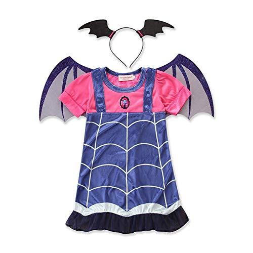 Kind Prinzessin Kostüm Vampira - LIGHTOP Kleid Prinzessin Vampir Kostüm Kind Weihnachten Cosplay Geburtstag Prinzessin Kleid Party Kleid Kinder Mädchen schickes Halloween Kostüm