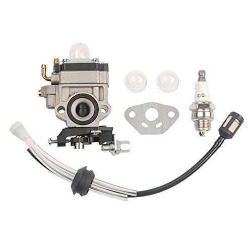 Ruche filtre Carburateur avec joint + Grille filtre à carburant + Bougie d'allumage Wyk-186 pour Echo Hca260 Hca261 Pe260 Pe261 Ppt260 Ppt261 Shc260 Shc261 Srm260 Srm261 tondeuse