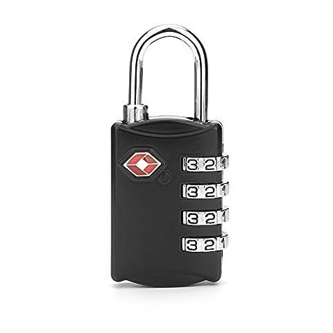 Cadenas avec Code FOXAS 2 Cadenas à Combinaison TSA Cadenas à 4 chiffres Cadenas de sécurité à l'école salle de gym centre de fitness etc pour valises bagages vestiaire casier au boulot TSA Security Travel Luggage Lock