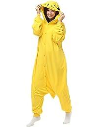 942ebfa035 Adultos Pikachu forro polar Onesie pijamas de pijama de la historieta animal  Halloween Traje de Cosplay