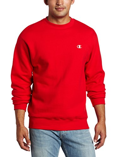Champion Eco® in pile da uomo felpa girocollo - BESTSELLER. Crimson Small