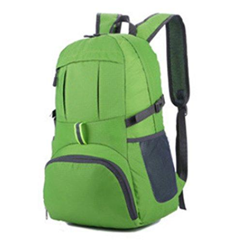 TigerFighting Zaino Outdoor Ultra Lightweight Packable Viaggio Zaino Pratico Pieghevole Escursionismo Daypack Verde