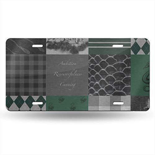Alice_Home_Collect Wizard Quilt Ambition Zweckmäßigkeit Grün Grau Aluminium Nummernschild vorne Kennzeichen Schminkschild Wand Deko Auto Fahrzeug -