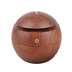 Essential Oil Aroma Diffuser Ultrasonic Air Humidifier Vaporiser Purifier 4 Colors Pick - Brown Wooden Grain, 305 x 205 x 2,5 mm