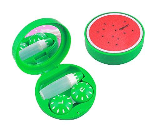 Mit Spiegel für Travel Green Kontaktlinsen Box Wassermelone (Kontaktlinsen Online Rabatt)