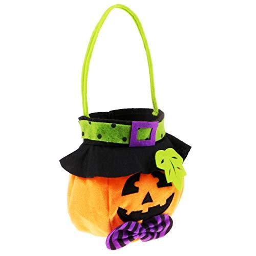 (MagiDeal Halloween Kürbis Tasche Candy Bag Kinder Tragetasche Handtasche)