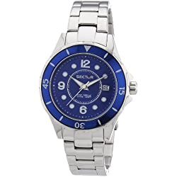 Sector Men's Quartz Watch with Blue Dial Analogue Display and Blue Stainless Steel Bracelet R3253161502