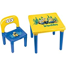 Minions–Mi primer mesa de actividad/sillas con actividad creativa set (30piezas)