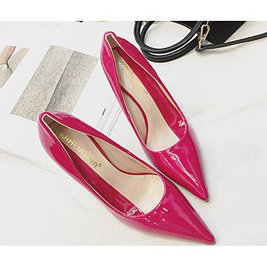 Moda Donna Sandali Sexy donna estate tacchi tacchi in pelle di brevetto Wedding / Casual Stiletto Heel altri nero / rosso / Fucsia Altri Red