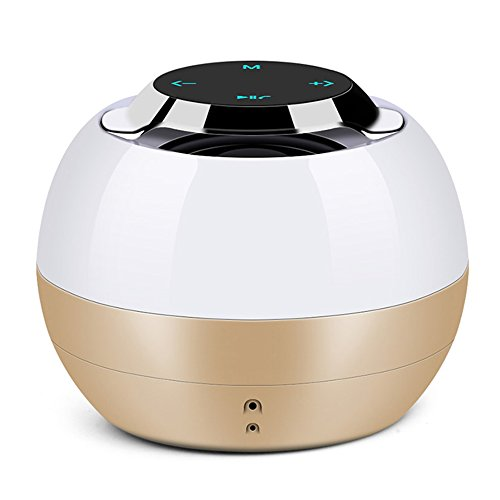 Combo Subwoofer Und Lautsprecher Auto (Kabelloses tragbares Volumen des Bluetooth-Lautsprechertelefons Universalmini-Notenentwurf schwerer Subwoofer ( Color : Gold ))