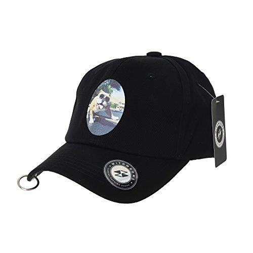 Poly-tiger Camo (WITHMOONS Baseballmütze Mützen Caps Baseball Cap Sunglasses Bulldog Picture Print Simple Plain Ball Cap For Men Women Cotton Hat TR1940 (Black))