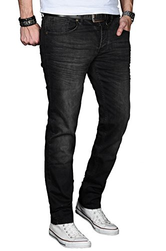 Alessandro Salvarini - Jeans - Slim - Uni - Homme Schwarz-washed