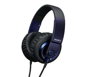 SONY Casque MDR-XB500 - bleu + Rallonge Jack 3,52 mm - réglage volume et inter mono / stéréo - Or - 3 m
