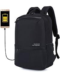 Mochila para Laptop con Puerto de Carga USB, Anti Robo, Resistente al Agua,