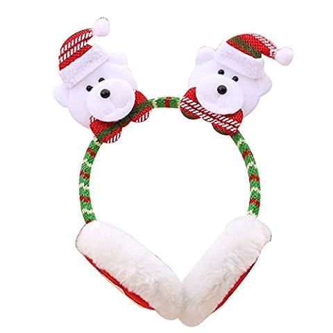 Originaltree Weihnachten Ohrenschützer Stirnband Ohrwärmer für Kinder Erwachsene size Bär (Weihnachten Sankt Bären)