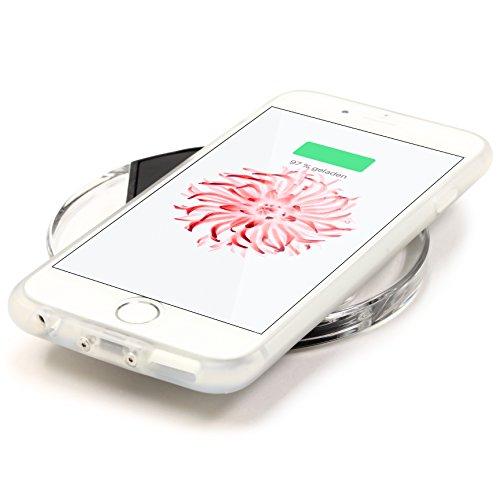"""[TREND] Original Urcover® Apple iPhone 6 / 6s (4,7 """") 2 in 1 Qi Back Case mit Ladefunktion Wireless Qi Ladeempfänger Induktive Ladegerät Schutz-Hülle kabellos funk Ladestation Champagner Gold Weiß"""