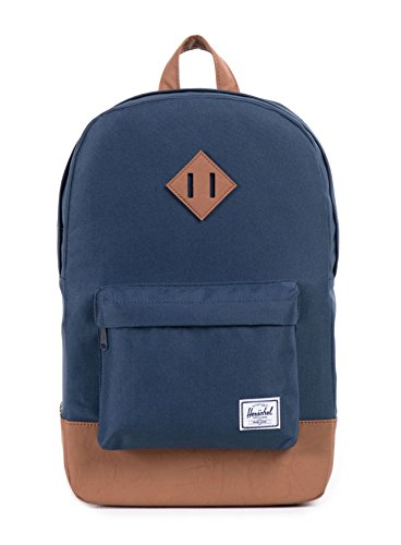 Herschel 10019-00007 Heritage Mid-Volume Backpack Rucksack, 1 Liter, Navy/Tan