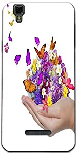 Snoogg Hand Holds Flower Spill Many Flowers And Butterfly Designer Protective...