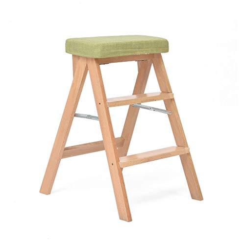 Zichen Wooden stool Taburete Plegable de Cocina Taburete de Madera Maciza Taburete del hogar Taburete Alto Silla de 65 centímetros Diseño Lavable (Tamaño : 42 * 54 * 65C)