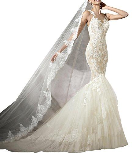 Changjie Damen Ballkleider Lang R¨¹ckenfrei Meerjungfrau Brautkleider Hochzeitskleider Prinzessin...