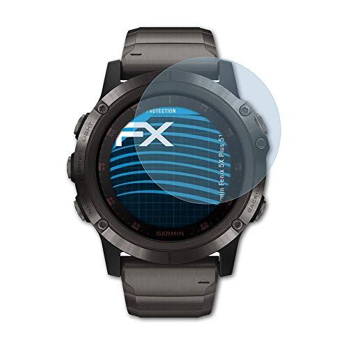 atFoliX Schutzfolie kompatibel mit Garmin Fenix 5X Plus 51 mm Folie, ultraklare FX Bildschirmschutzfolie (3X)