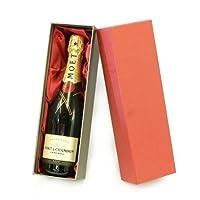 75cl Moet et Chandon Champagne in un lusso rosso e argento scatola di presentazione con raso Insert