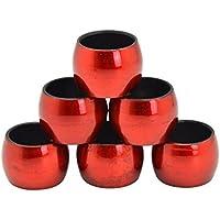 Servilleteros redondas en rojo - 6 unidades