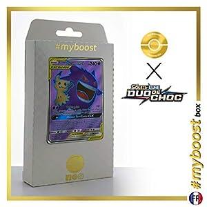 Ectoplasma et Mimiqui-GX (Gengar y Mimikyu-GX) 164/181 Full Art - #myboost X Soleil & Lune 9 Duo de Choc - Box de 10 Cartas Pokémon Francés