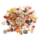 winomo piedras decorativas piedras de río 500g Natural Multicolor Piedras 0.5-1CM pequeño piedras Decoración para Jardín Acuario vías Planta