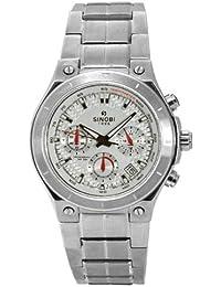 Sinobi SPORT SS1032G-2 - Reloj de caballero de cuarzo, correa de acero inoxidable color plata